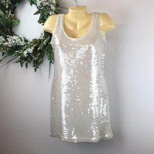 "Lauren Conrad sequin ""Bright Nights"" slip dress"